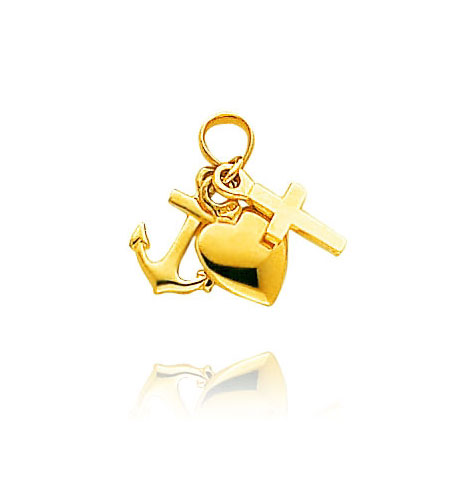 Faith, Hope and Charity Charm