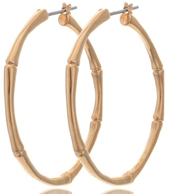 Gold fashion hoop earrings