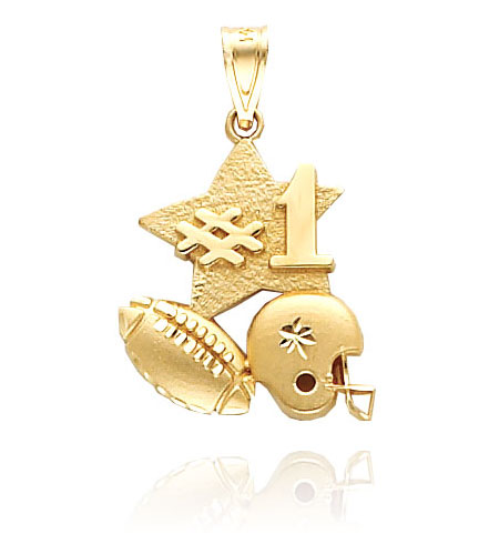 Gold Football Charm