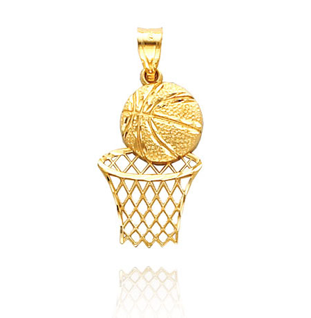 Sports charms and fans gold basketball charm mozeypictures Gallery