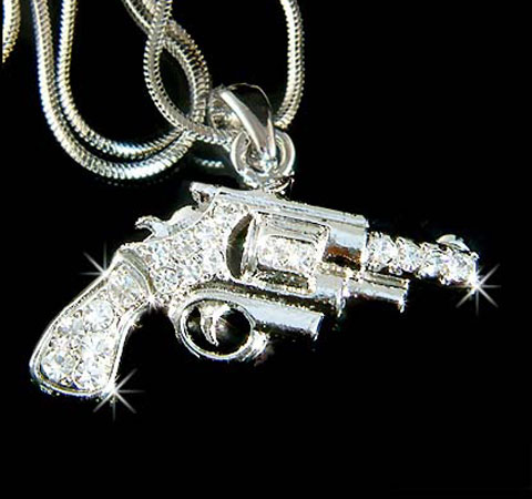 Hip Hop Gun Necklace