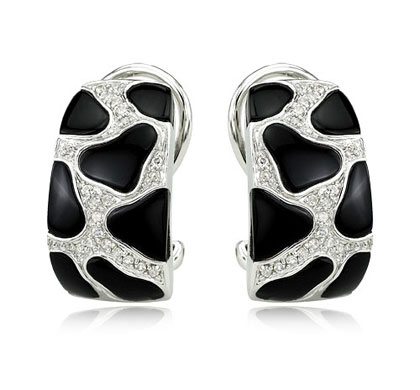Onyx French Clip Earrings