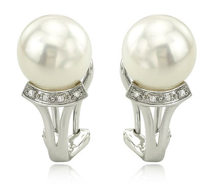 Pearl French Clip Earrings