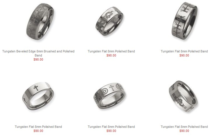 Tungsten Catholic Rings