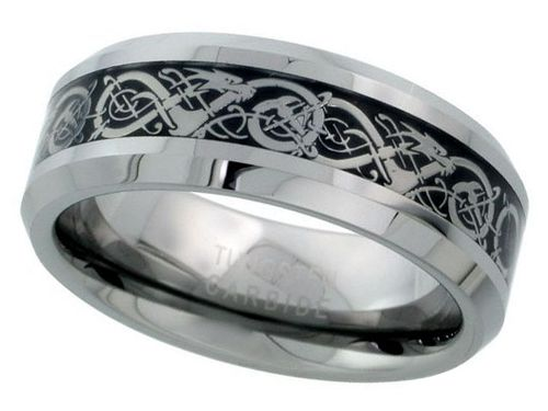 Tungsten Celtic Wedding Band