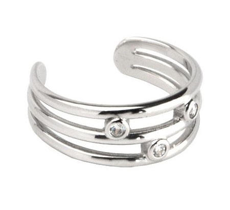 White Gold Diamond Toe Ring