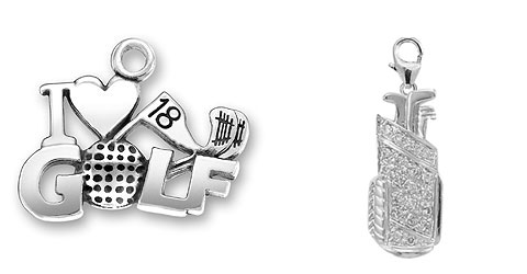 White Gold Golf Jewelry